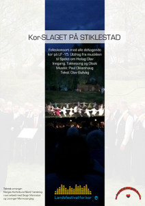 Noteheftet til det «store korslaget» på Stiklestad i forbindelse med Landsfestival for kor på Levanger 2015